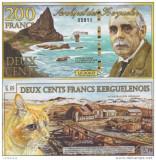 !!!  ARHIPELAGUL  KERGUELEN  -  200  FRANCI   2010  - UNC
