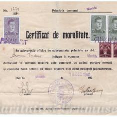 CERTIFICAT DE MORALITATE 1941 - Diploma/Certificat