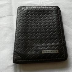 Port card portcard din piele HUGO BOSS original cu 5 compartimente - Portofel Barbati
