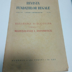 BASARABIA SI BUCOVINA OMAGIU MARESALULUI I. ANTONESCU - 1941 - Istorie