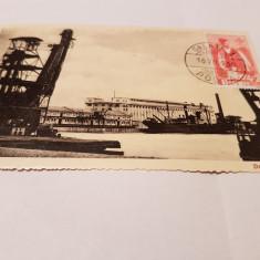 carte postala 1936/ docurile din galati