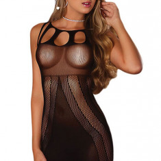 R409-1 Desu sexy semitransparent, cu model - Dres, Marime: S/M