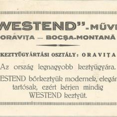 Reclama tiparita interbelica din Oravita -Bocsa Montana in limba maghiara !