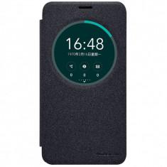 Husa Nillkin Sparkle Asus Zenfone 2 Laser 5.5inch - Husa Telefon Asus, Universala, Negru, Cu clapeta