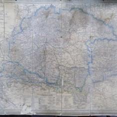 Transilvania - Post Karte Ungarn Siebenburgen, Viena 1860 - Harta Romaniei