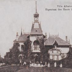BUZAU, VILLA ALBATROS, PROPRIETARE A DOMNULUI MARGHILOMAN - Carte Postala Muntenia dupa 1918, Necirculata, Printata