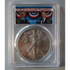 United States / 2017 Silver Eagle - First Strike / 1 OZ PCGS MS69, America de Nord, Argint