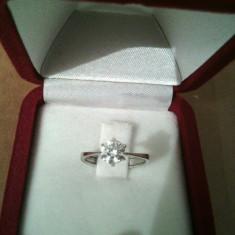 Inel aur alb pandora de logodna de 14k