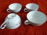 Set 4 cesti cafea portelan Bavaria Schumann -1945, marcaj
