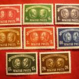 Serie - Ajutor pt copii 1945 Ungaria, 8 valori, Nestampilat
