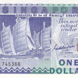 Bancnota Singapore 1 Dolar (1987) - P18a UNC - bancnota asia