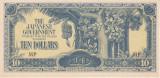 Bancnota Malaya ( ocupatia japoneza ) 10 Dolari (1944) - PM7 UNC