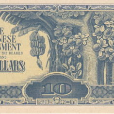 Bancnota Malaya ( ocupatia japoneza ) 10 Dolari (1944) - PM7 UNC - bancnota asia