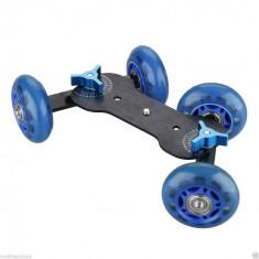 Dolly slider stabilizator skateboard pt Gopro, smartphone, dslr - Lumini Studio foto