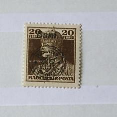 1919 Oradea 20 bani Carol - Timbre Romania, Nestampilat