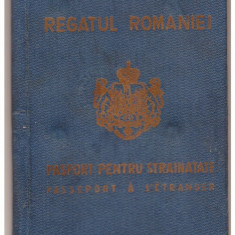 PASAPORT PENTRU COLECTIE-CAROL II-STARE BUNA - Pasaport/Document, Romania 1900 - 1950
