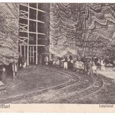 #2108- Romania, Ocnele Mari , carte postala circulata 1929: Interirul Salinelor
