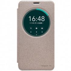 Husa Nillkin Sparkle Asus Zenfone 2 Laser 5.5inch - Husa Telefon Asus, Universala, Auriu, Cu clapeta