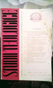 Studii Teologice,Revista Facultăților de Teologie din Patriarhia Română,