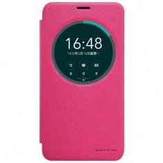 Husa Nillkin Sparkle Asus Zenfone 2 Laser 5.5inch - Husa Telefon Asus, Universala, Roz, Cu clapeta