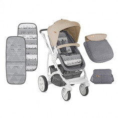 Carucior 2 in 1 Vista Grey Beige Cities - Carucior copii 2 in 1