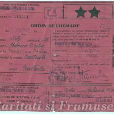 ORDIN DE CHEMARE IN ARMATA 1942