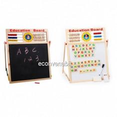 Tabla Magnetica Dubla Educativa Pentru Copii 46x38cm S