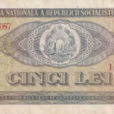 Romania 5 Lei 1966 - Bancnota romaneasca