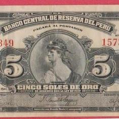 SV * Peru  5  SOLE  1941   WWII     VF / VF+