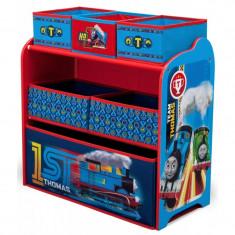 Organizator jucarii cu cadru din lemn Trenuletul Thomas - Sistem depozitare jucarii