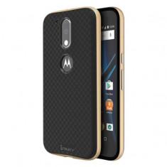 HUSA IPAKY MOTOROLA G4 - BONUS FOLIE ECRAN - Husa Telefon Motorola, Auriu, Gel TPU