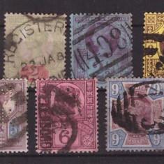 Marea Britanie 1887 - Regina Victoria, serie stampilata