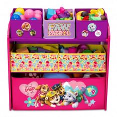 Organizator jucarii cu cadru din lemn Paw Patrol Girl - Sistem depozitare jucarii