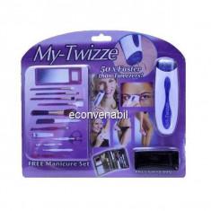 Set epilator my twizze noul tweezers si set manichiura tv wizz