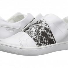 Adidasi Guess- Femei- alb, negru, 100% original - Adidasi dama Guess, Marime: 37.5, Piele sintetica