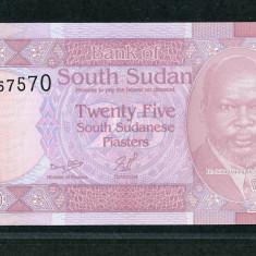 Sudanul de Sud ( South Sudan ) - 25 Piastri ND 2011 - UNC - bancnota africa