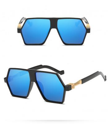 Ochelari De Soare Retro / Aviator Supradimensionati - Protectie UV 100% - 4 foto