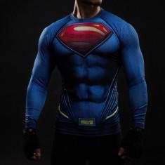 Bluza Fitness Blue Superman COD: SPR-long *** NEW COLLECTION *** - Bluza barbati, Marime: S, M, Culoare: Albastru