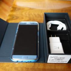Samsung Galaxy S7 Edge, 32GB, 4G, Coral Blue - Telefon Samsung, Argintiu, Neblocat, Single SIM