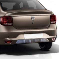 Difuzor bara spate gri texturat compatibil Dacia Logan II 2013- - Difuzor bara spate auto