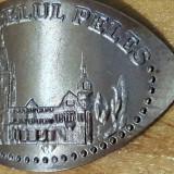 Reclama castelul peles rege relief fier metal - Metal/Fonta