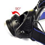 Lanterna frontala de cap  LED  Zoom 2x acumulatori  Mega Zoom