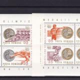 ROMANIA 1992, LP 1306, MEDALII OLIMPICE J. O. BARCELONA 2 BLOCURI MNH - Timbre Romania, Nestampilat