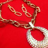 Set bijuterii-placat cu Aur galben 18k si cristale zirconia +CADOU BROSA