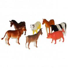 Jucarie Set 8 animale domestice din plastic - Figurina Animale