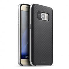 HUSA IPAKY SAMSUNG GALAXY S7 - BONUS FOLIE ECRAN - Husa Telefon Samsung, Argintiu, Gel TPU