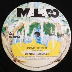 Denise Lasalle - Come To Bed (1983, Malaco) disc vinil Maxi Single funk/soul - Muzica R&B