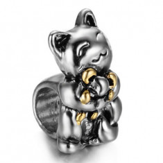 Charm URSULET DE PLUS pandantiv placat argint 925 talisman pt bratara PANDORA - Bratara argint pandora, Femei