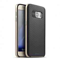 HUSA IPAKY SAMSUNG GALAXY S7 - BONUS FOLIE ECRAN - Husa Telefon Samsung, Auriu, Gel TPU