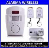 Alarma de casa Wireless cu senzor de miscare si 2 telecomenzi